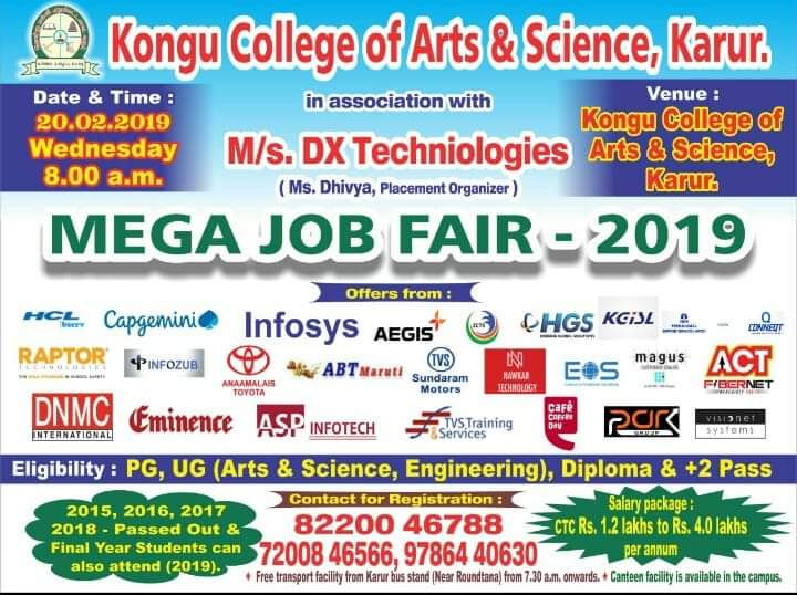Mega Job Fair – 2019